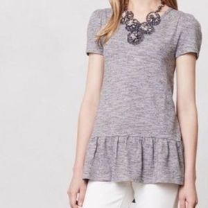Anthropologie Leifnotes Nora Peplum Top